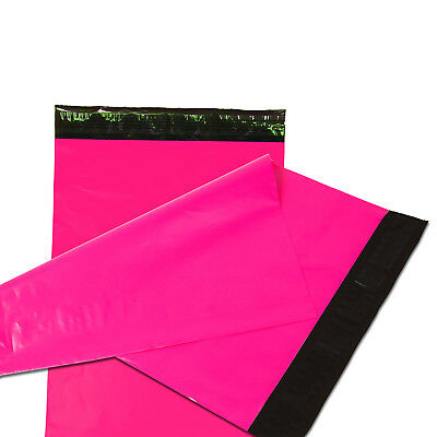 50 19x24 Poly Mailers Plastic Envelopes Shipping Mailing Bags 2.5 MIL Hot Pink