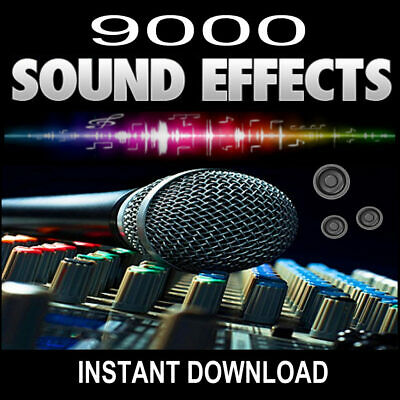 Full Audio Sound Effects Library (Over 9000) Royalty Free - Instant Download -