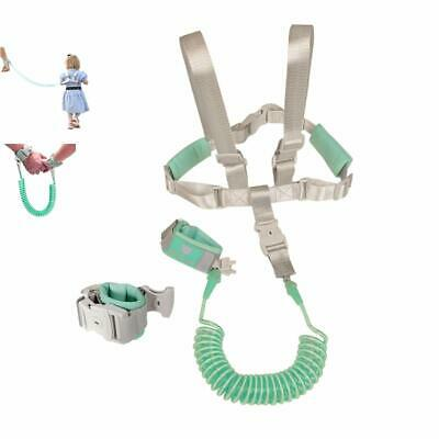 2 in 1 Baby Leash Toddler Anti Lost Wrist Link and Vest Harness with Child Lock