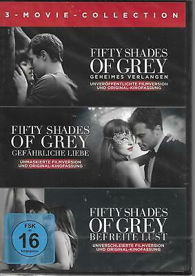 FIFTY SHADES OF GREY Teil 1 - 3 komplett 3 DVD NEU & OVP 50 1 + 2 + 3