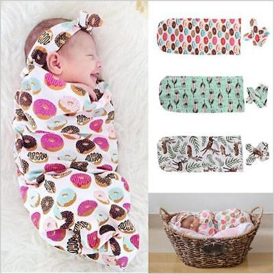 Newborn Baby Swaddle Wrap Soft Blanket Sleeping Bag Sleep Sack Bedding WE