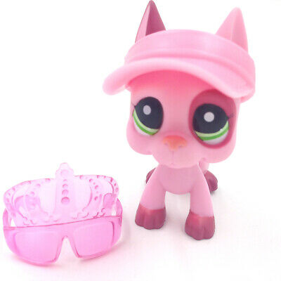 LPS Hasbro Littlest Pet Shop 2598 Toys Pink Great Dane Dog Puppy Accessories Toy