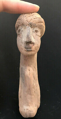 Very Old Noristan Period Wonderlul Old Wood Male Figure Statue