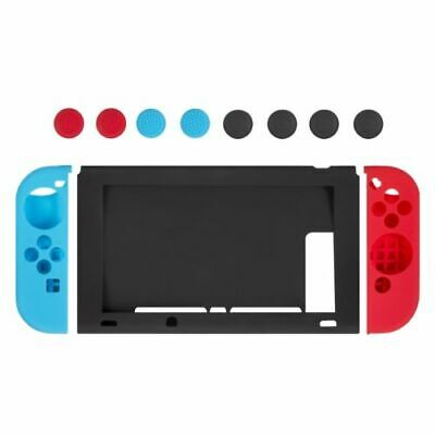 Nintendo Switch Anti-Slip Silicone Protective Skin Case Cover With Thumb Grips