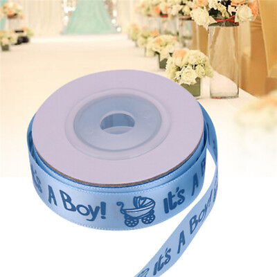 It's a Boy, It's a Girl Satin Ribbon. Blue Pink Baby Shower Christening Cake WE
