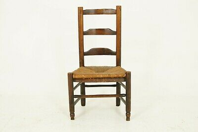 Antique Child Chair, Ladder Back Chair, Doll Chair, Scotland 1840, B1466