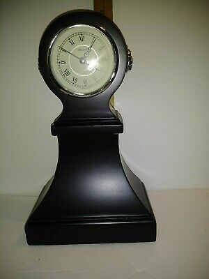 "Wallace Silversmith Since 1835 Mahogany Mantle 12"" Clock. Preowned EUC"