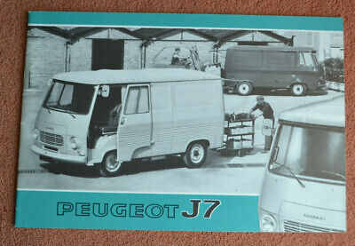 Peugeot J7 Commercial vehicle platform UK market brochure 1973