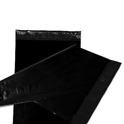 500 12x15.5 Poly Mailers Plastic Envelopes Shipping Mailing Bags 2.5 MIL Black