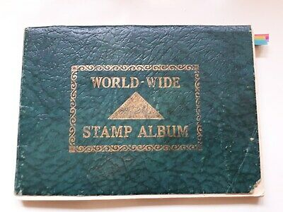 Old World Wide Stamp Album :  World Collection- 850 Used Stamps.