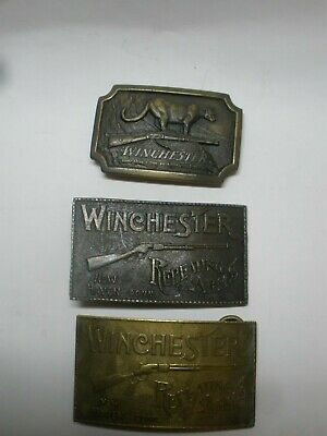 Winchester Rifle Guns Firearms Western 1970's Vintage Belt Buckle lot