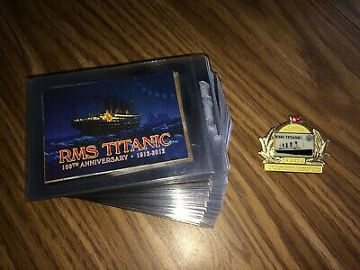 TITANIC 100th Anniversary 1912-2012 Trading Cards and Centennial Collectors pin