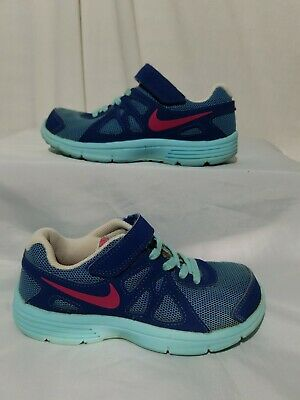4a54e4d969 NIKE REVOLUTION 2 Girls 4 Youth Running Shoes 555090-504 Blue Pink ...