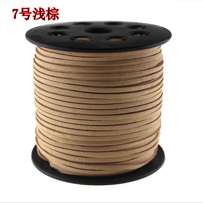 New DIY 6.5yd 3mm Suede Leather String Thread Bead Cord Jewelry Making Bracelet