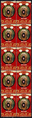 Briard Year Of The Dog 2018 Strip Of 10 Mint Stamps