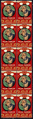 Welsh Terrier Year Of The Dog 2018 Strip Of 10 Mint Stamps