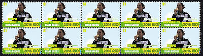 Diana Bacosi Womens Skeet Shooting 2016 Rio Olympics Gold Medal Vignette Stamps