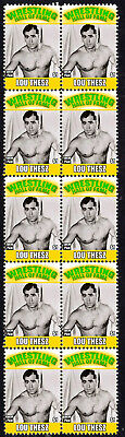 Lou Thesz Wrestling Hall Of Fame Inductee Strip Of 10 Mint Stamps