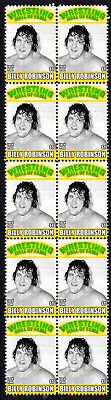 Billy Robinson Wrestling Hall Of Fame Inductee Strip Of 10 Mint Stamps