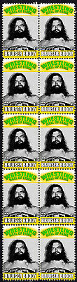 Bruiser Brody Wrestling Hall Of Fame Inductee Strip Of 10 Mint Stamps