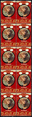 Vizsla Year Of The Dog 2018 Strip Of 10 Mint Stamps