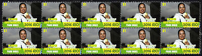 Park Inbee Womens Golf 2016 Rio Olympics Gold Medal Vignette Stamps