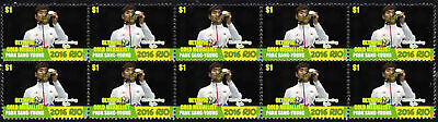 Park Sang-Young Mens Epee Fencing 2016 Rio Olympics Gold Medal Vignette Stamps