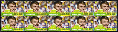 Connor Fields Mens Bmx 2016 Rio Olympics Gold Medal Vignette Stamps