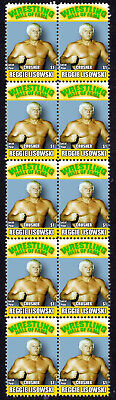 Reggie Lisowski Wrestling Hall Of Fame Inductee Strip Of 10 Mint Stamps