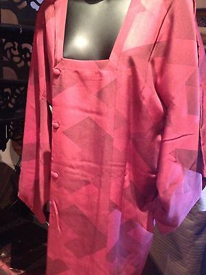 Antique Vintage Japanese Silk Vintage Hapi Short Kimono Jacket