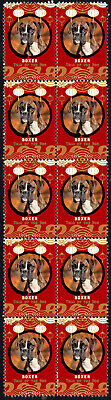 Boxer Year Of The Dog 2018 Strip Of 10 Mint Stamps