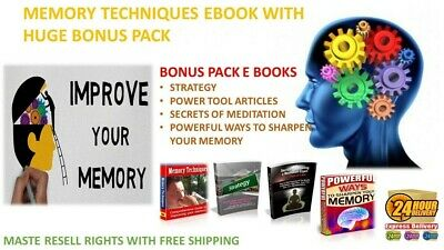 Memory Techniques Ebook Pdf With Bonus Master Resell Rights Just $0.99
