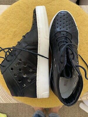 Women's black leather sneakers from Zomp - Size 36