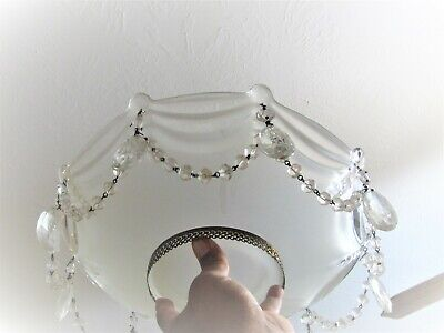 Vintage Pendant GLASS  Antique Ceiling Lamp shade Hanging Light 13.1/2 DIAMETER