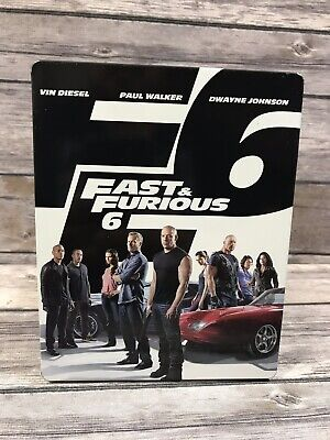 Fast & Furious 6 (Blu-ray Disc Only *No DVD *No Digital, 2013) Steelbook Case VG