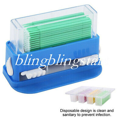1 Set Dental Plastic Dispenser Sticks Container Brush Applicator Micro Bendable