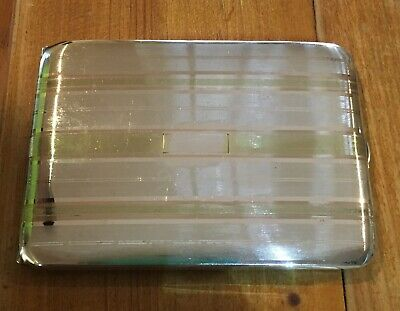 Vintage Antique Sterling And 14k Gold Inlay Cigarette Case Art Deco Style (1)