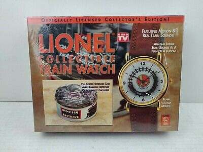 LIONEL COLLECTIBLE TRAIN WATCH Motion & Real Train Sounds NIB Sealed in Plastic
