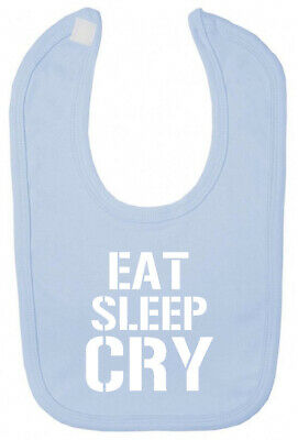 Eat Sleep Cry Bib Christening baby shower gifts for newborn babies boy girl