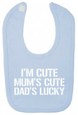 I'm Cute Bib Funny Christening baby shower gifts for newborn babies boy girl