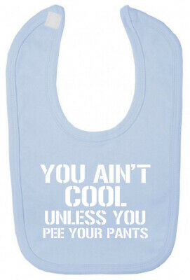 You Ain't Cool Bib Christening baby shower gifts for newborn babies boy girl