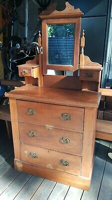 Antique Solid Timber Chest Of Drawers