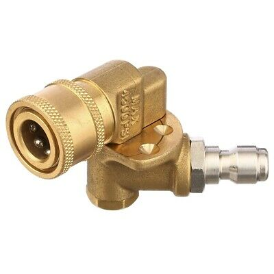 Quick Connecting Pivoting Coupler For Pressure Washer Spray Nozzle, Cleanin X7U3