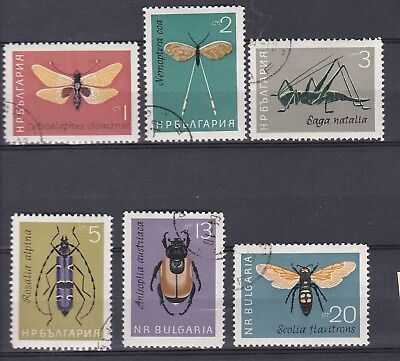 Bulgarie 1964  Serie Insectes Yt1247/1252 O