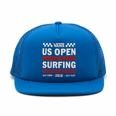 6ba6aa33 Vans Men's 2016 US Open of Surfing Veritcal Lock Up Trucker Hat Cap - Royal