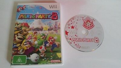 Mario Party 8 -Nintendo Wii (very good condition-missing game manual) FREE POST
