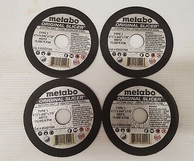 "Metabo 55997 55.997 4-1//2/"" Slicer-Plus Cut-off Wheels-Box of 50 655997000"