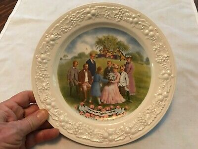 Mothers Day With Theodore Roosevelt & Family 1945 Vintage Souvenir Plate