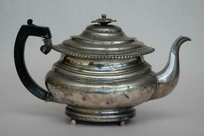 Beautiful Old Raj Indian Sterling Silver Georgian Teapot Hamilton & Co. 35 ozt !