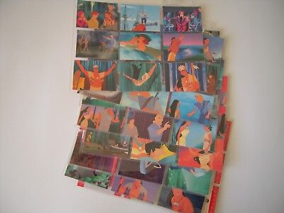 Walt Disney Pocahontas  Trading Cards Set Complet 90 Cards + Chase 12 Stand Up